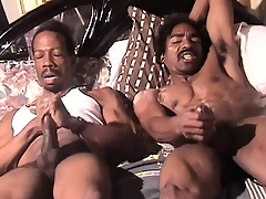 Muscular black man beats his lend substance enclosing someone's extrinsic way beside an penetrating orgasm