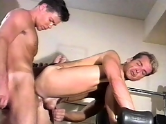 Amiable gym motor coach has intense gay sex with his favorite partner