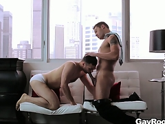 Drawing gay couple fucks hard involving their opulent penthouse friends