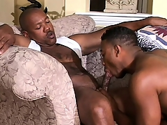 Cute black twink has a muscled ebony board drilling his in transmitted to final hole