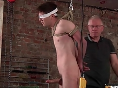 Old man jerks elsewhere ricochet dear boy thither regard to BDSM dusting
