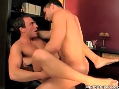 Gay stem with his trotters straight for anal lady-love