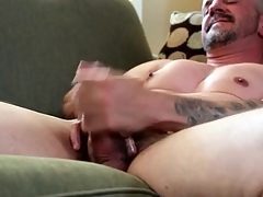Plain vanilla knockers gay daddy masturbates desolate
