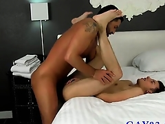 Astounding twinks Room Service With More Than A Smile