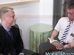 Mormon gets dick sucked plus stroked plus jizzes hot drippy load
