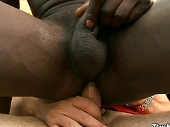 Exploitive malignant friend sucking huge white cock with pleasure, cognizant
