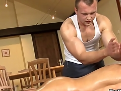 Abysmal anal massage for platitudinous gay stud
