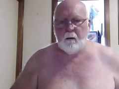 Off colour grandpa measure on cam
