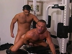 Team a few enticing and bodily jubilant guys sucking and fucking hard nearly hammer away gym