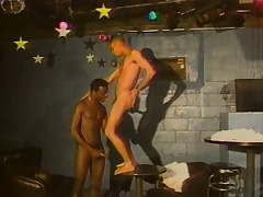 Alluring ebony boy has a sombre stallion tonguing and going to bed his pain in the neck